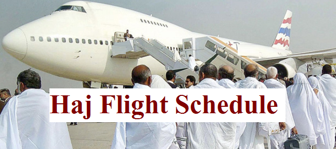 Hajj Flight Schedule