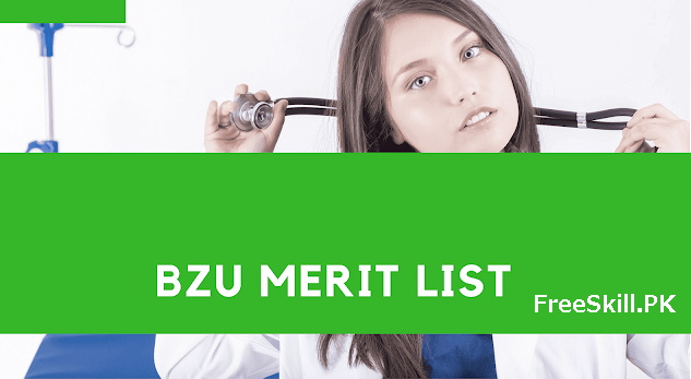 Bzu Merit List 2021 Bs Program