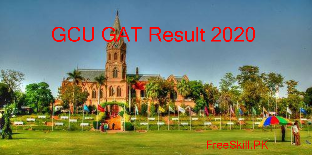 GC University Lahore GAT Test Result Check Online