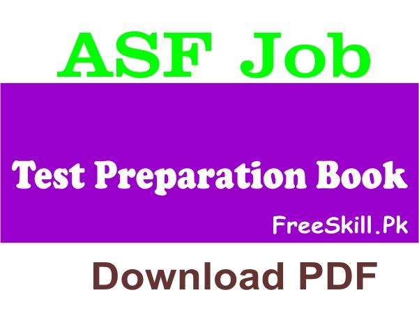 ASF Job Test Preparation Book Download PDF