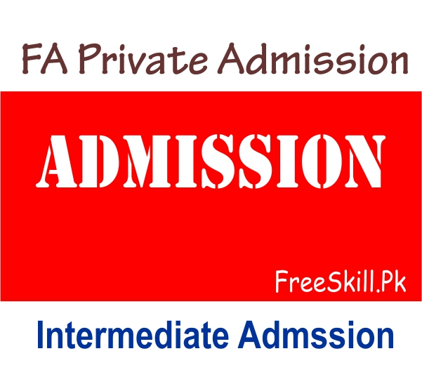 FA Private Admission Last Date 2021 Download Form