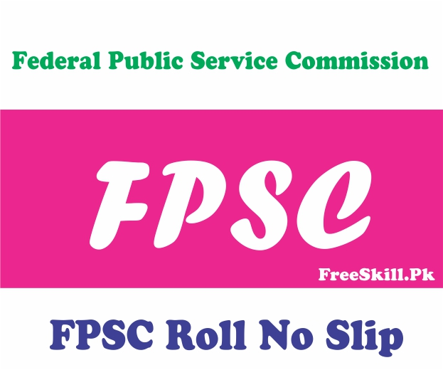 FPSC Roll No Slip