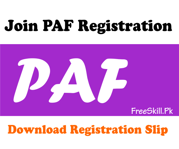 Join PAF Registration Slip 2021
