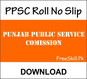 PPSC Roll Number Slip