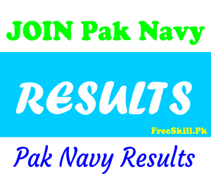 Join Pak Navy Result 2021