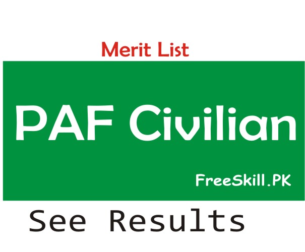 PAF Civilian Merit List 2021 Jobs