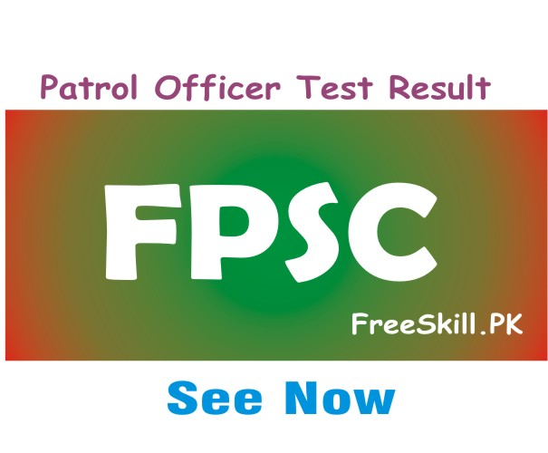 FPSC Patrol Officer Test Result 2021