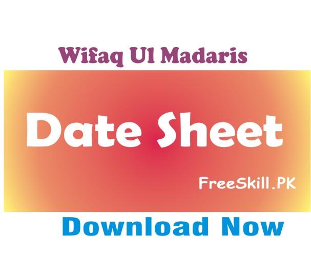 Wifaq Ul Madaris Date Sheet