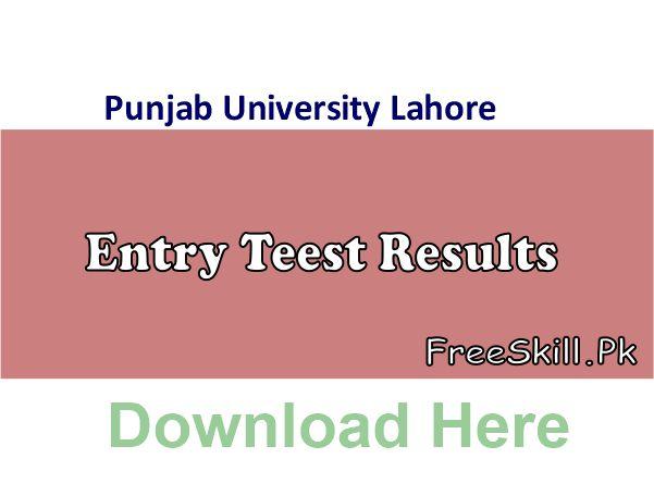 Punjab University Entry Test