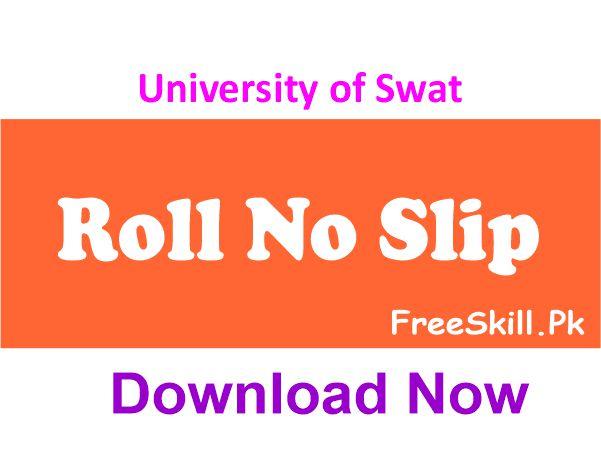Swat University Ba Bsc Roll Number Slip 2021