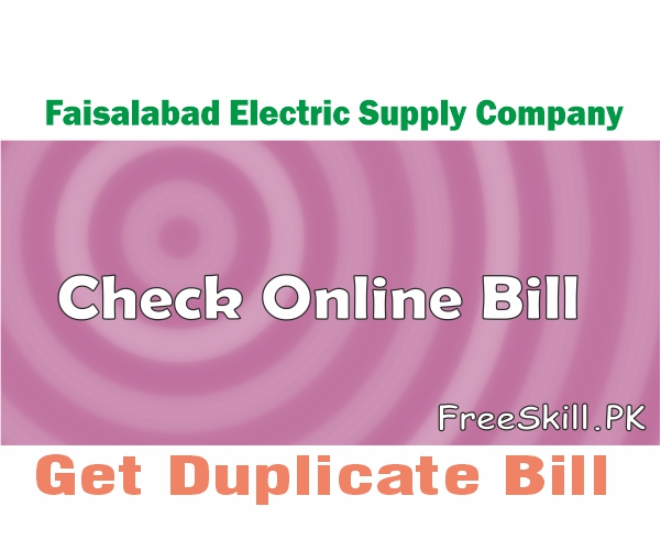 FESCO Online Bill