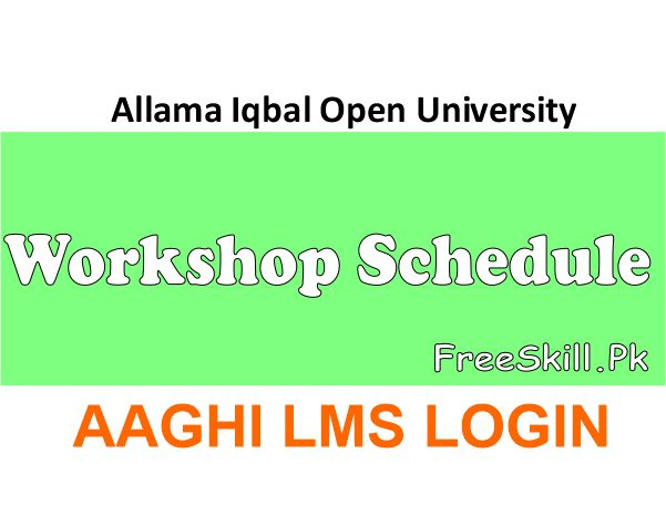 Workshop Schedule AIOU AAGHI LMS 2021