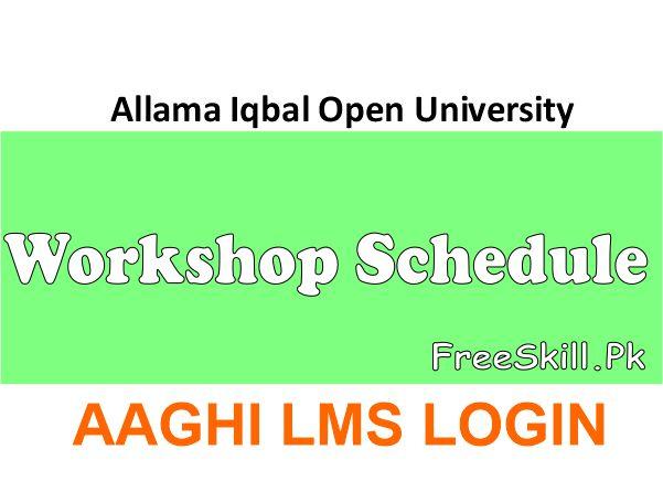 AIOU Workshop Schedule
