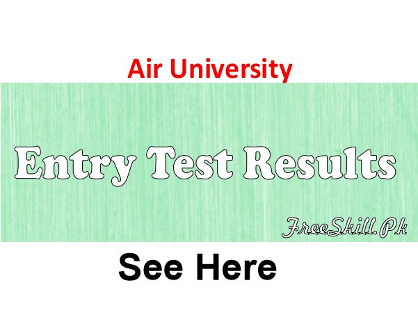Air University Test Result 2021 Check Online