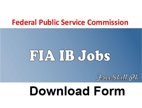 FPSC FIA IB Jobs
