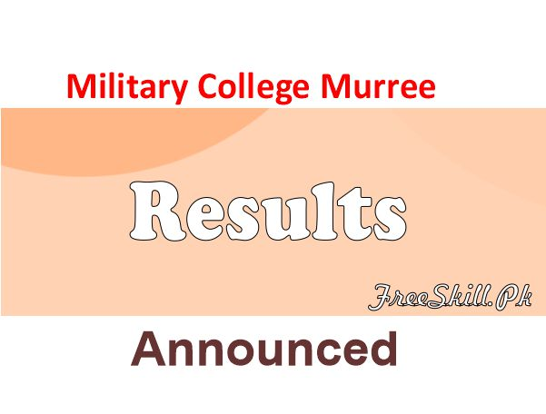 Military College Murree Result