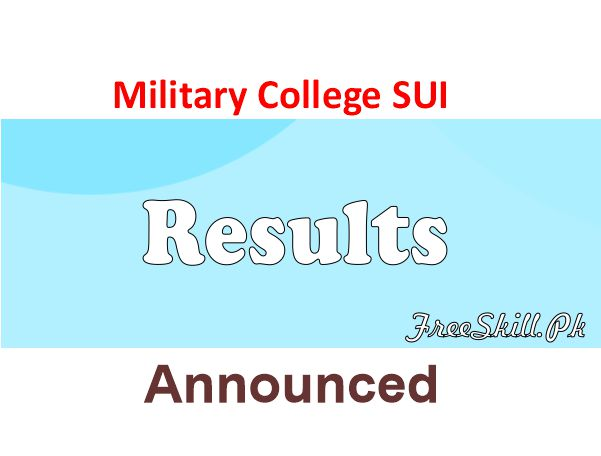 Military College SUI Result