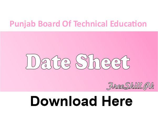 PBTE Date Sheet