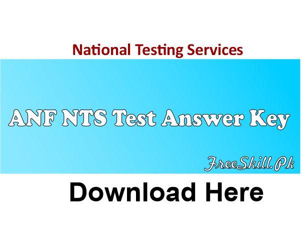 ANF NTS Test Answer Key