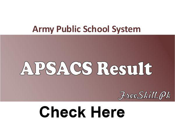 APSACS Result