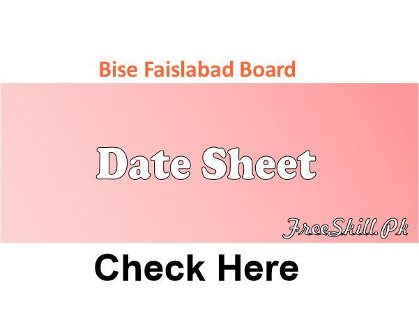 Bise Faisalabad Date Sheet