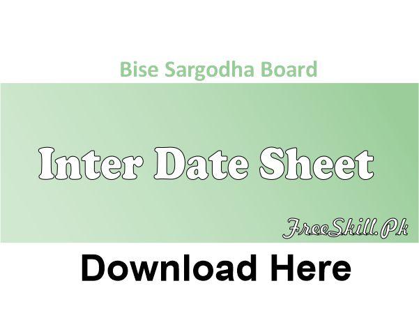 Bise Sargodha Date Sheet
