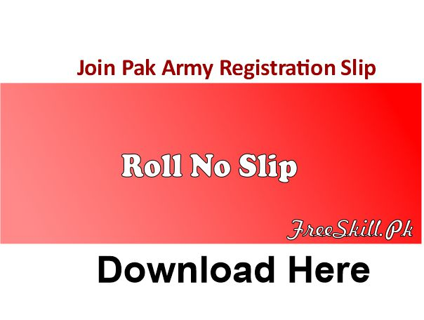 Join Pak Army Registration