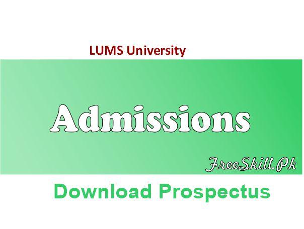 LUMS University Admission