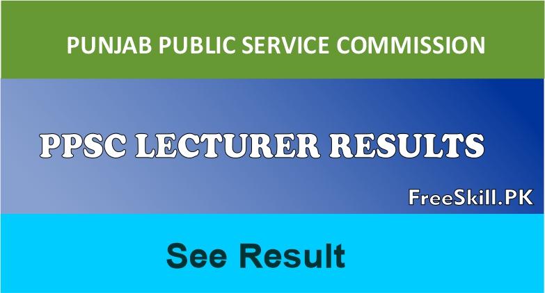 PPSC Lecturer Result