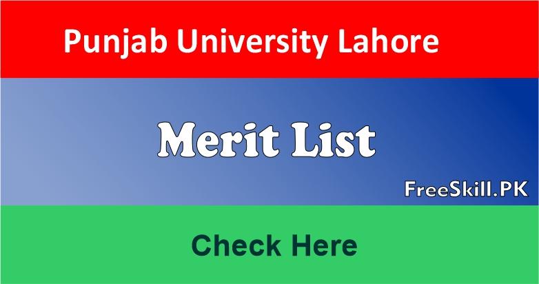 Punjab University Merit List