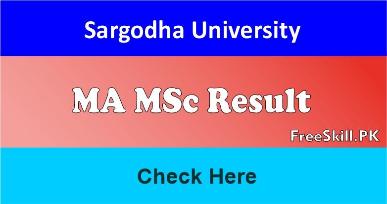 Sargodha University MA MSc Result